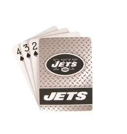 PRO SPECIALTIES GROUP New York Jets Steel Grid Playing Cards