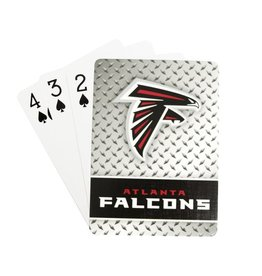 PRO SPECIALTIES GROUP Atlanta Falcons Steel Grid Playing Cards