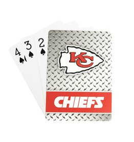PRO SPECIALTIES GROUP Kansas City Chiefs Steel Grid Playing Cards