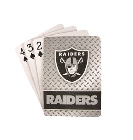 PRO SPECIALTIES GROUP Oakland Raiders Steel Grid Playing Cards