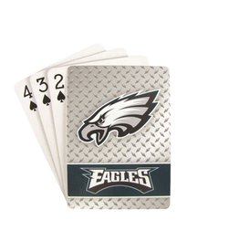 PRO SPECIALTIES GROUP Philadelphia Eagles Steel Grid Playing Cards