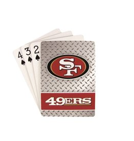 PRO SPECIALTIES GROUP San Francisco 49ers Steel Grid Playing Cards
