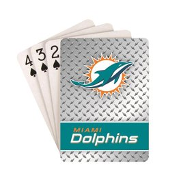 PRO SPECIALTIES GROUP Miami Dolphins Steel Grid Playing Cards