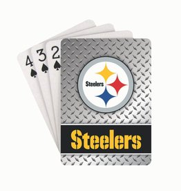 PRO SPECIALTIES GROUP Pittsburgh Steelers Steel Grid Playing Cards