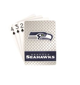 PRO SPECIALTIES GROUP Seattle Seahawks Steel Grid Playing Cards
