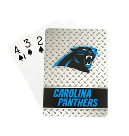 PRO SPECIALTIES GROUP Carolina Panthers Steel Grid Playing Cards