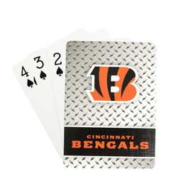 PRO SPECIALTIES GROUP Cincinnati Bengals Steel Grid Playing Cards