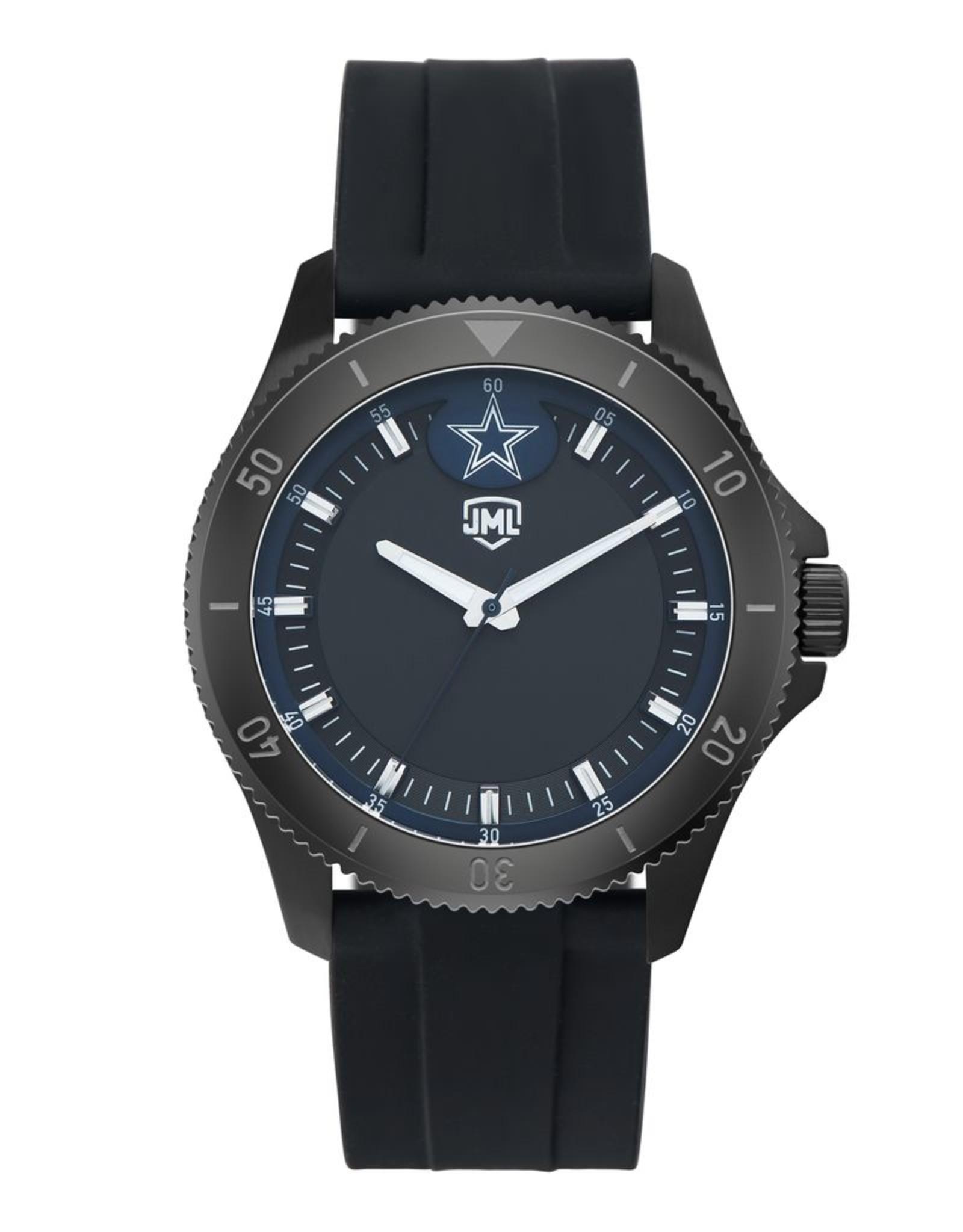 JACK MASON Dallas Cowboys Jack Mason Men's Blackout Silicone Watch