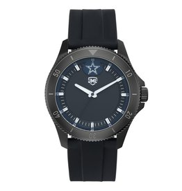 JACK MASON Dallas Cowboys Jack Mason Men's Blackout Silicone Watch