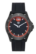 JACK MASON Denver Broncos Jack Mason Men's Blackout Silicone Watch