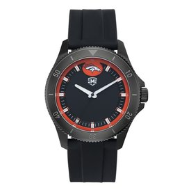 JACK MASON Denver Broncos Jack Mason Men's Blackout Silicone Watch