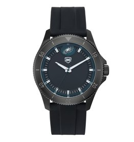 JACK MASON Philadelphia Eagles Jack Mason Men's Blackout Silicone Watch