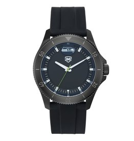 JACK MASON Seattle Seahawks Jack Mason Men's Blackout Silicone Watch