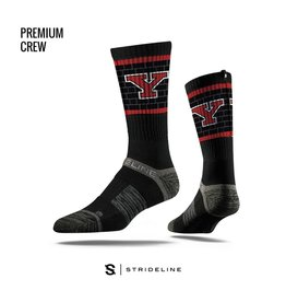 STRIDELINE Youngstown State Penguins Strideline Blocked Logo Performance Crew Socks