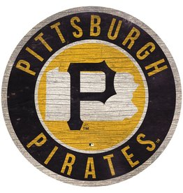 FAN CREATIONS Pittsburgh Pirates Round State Sign