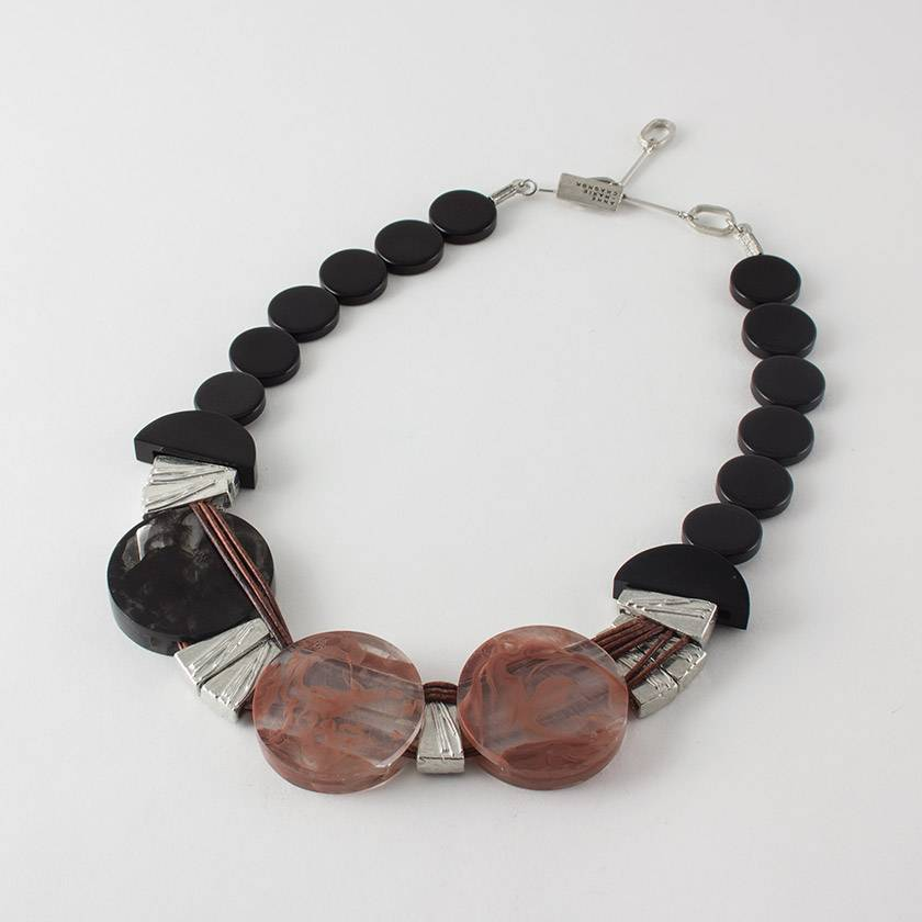 Anne Marie Chagnon Vana Rose Necklace- Clay