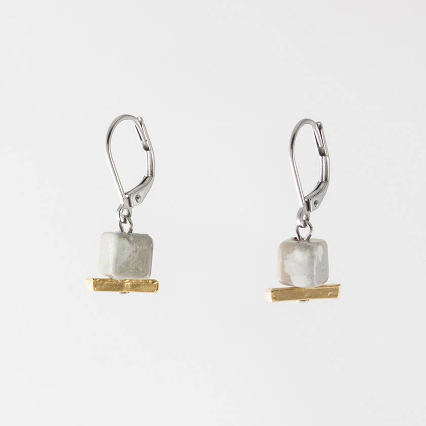 Anne Marie Chagnon Awa Earring- Silvery and Gold