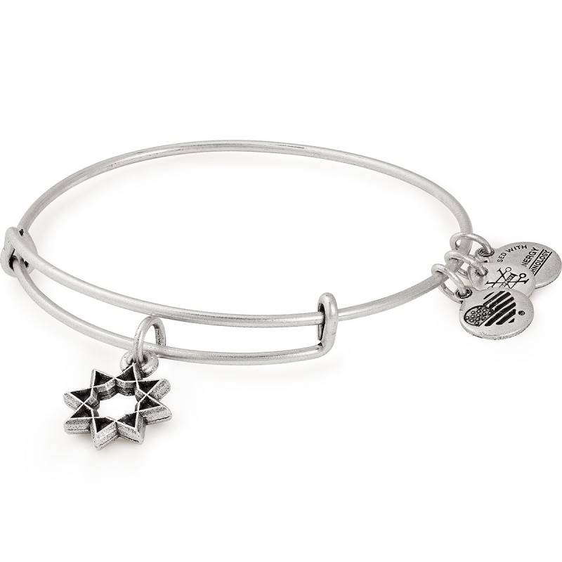 Alex and Ani Eight Pointed Star EWB -Silver
