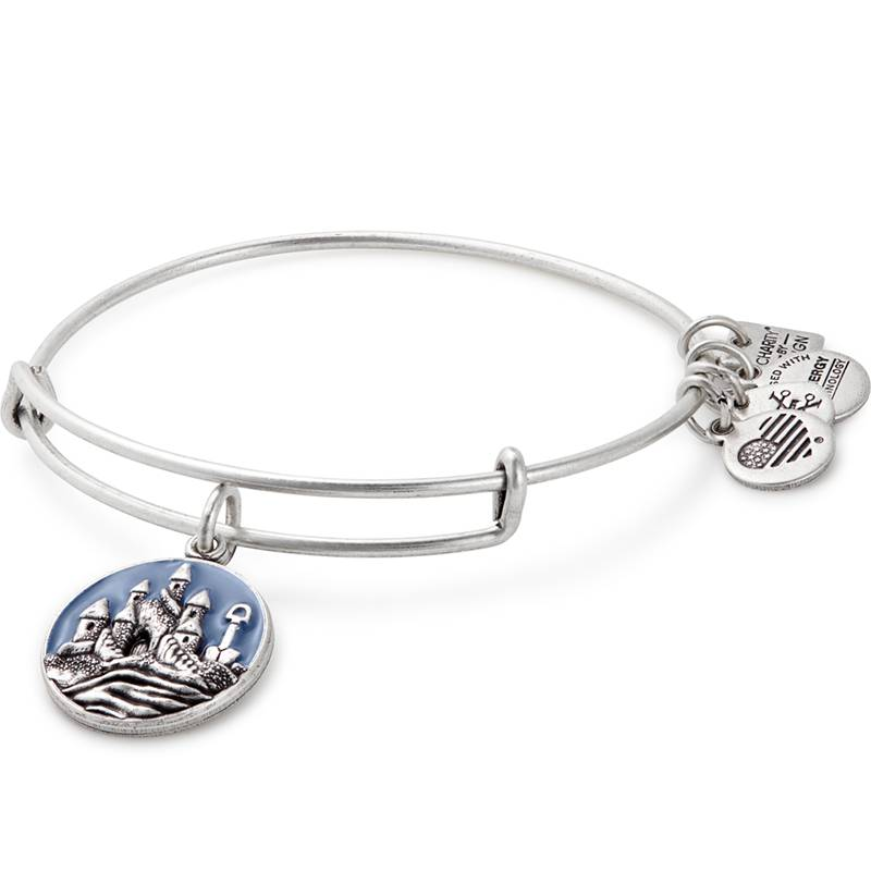 Alex and Ani Charity by Design, Sand Castle EWB -Silver