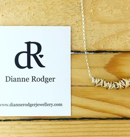 Dianne Rodger Dual Tone Small Twist Necklace 18""