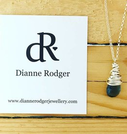 Dianne Rodger Small Petal Necklace- Blue Quartz 18""