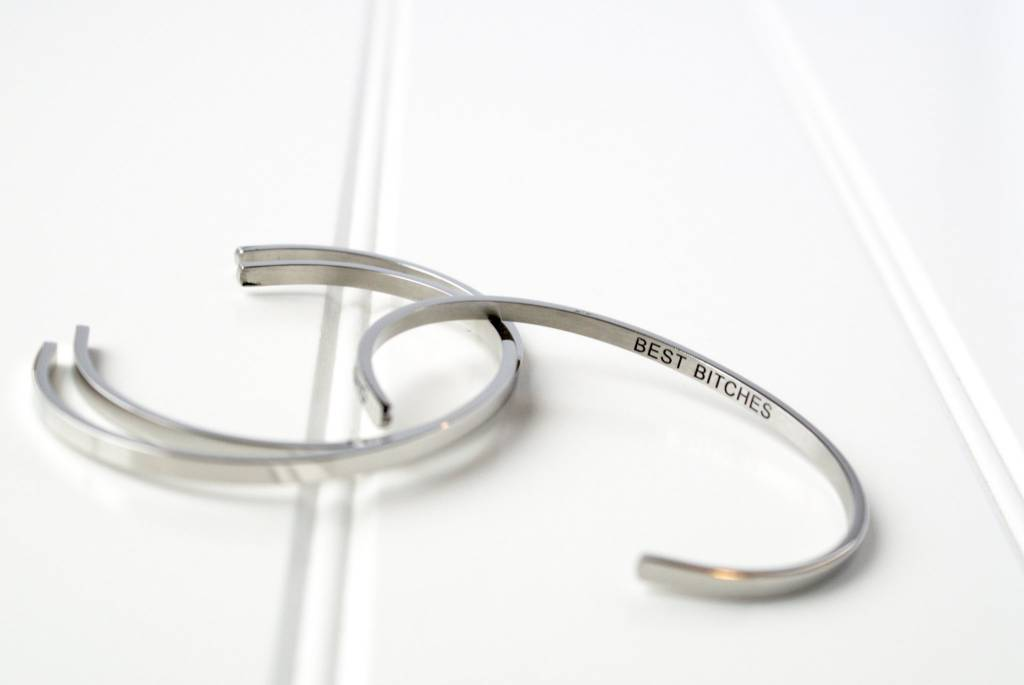 Glass House Goods Inner Voice Bangle- Best Bitches