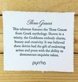"""Pyrrha Pyrrha- Three Graces on Fresh Water Pearls 22"""""""