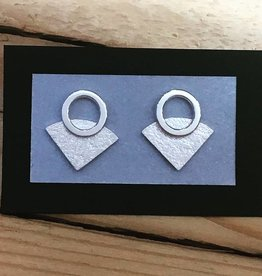 Valerie Davidson Sterling Triangle Stud with Circle