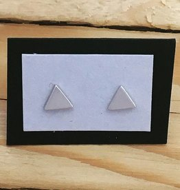 Sterling Triangle Stud