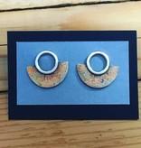 Valerie Davidson Bronze/Sterling/Fused Gold Stud