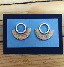 Valerie Davidson Bronze/Sterling/Fused Gold Stud