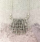 "Shablool Sterling Wire Weave Pendant on 18"" Chain"