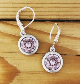 Merx merx crystal drop earring- Violet