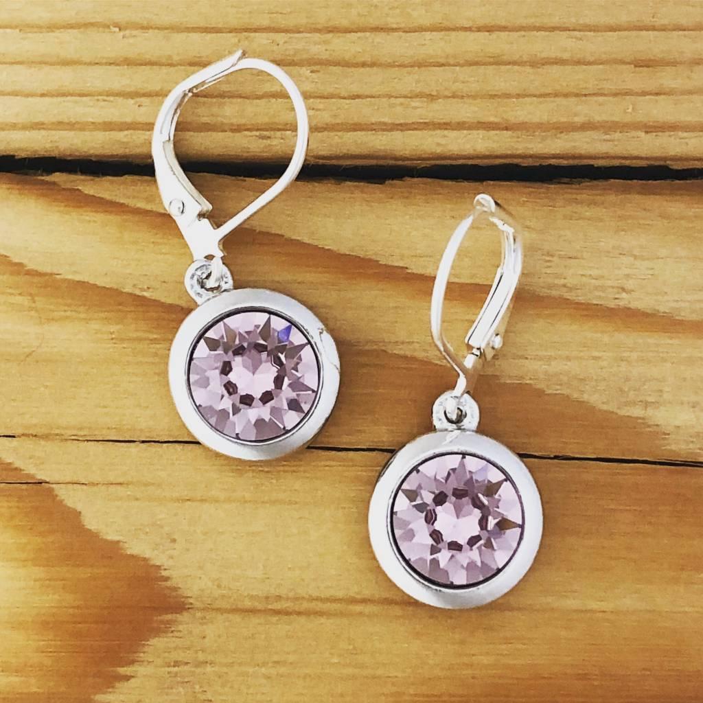 Merx merx crystal drop earring- Violet