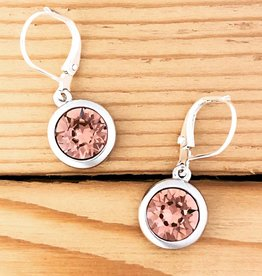 Merx Merx Crystal Drop Earring- Rose peach