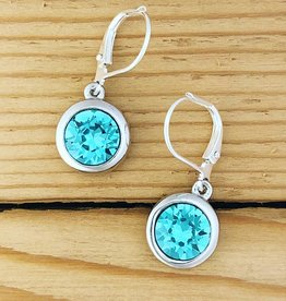 Merx Merx Crystal Drop Earring- Blue Zire