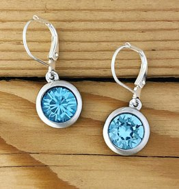 Merx Merx Crystal Drop Earring- Aqua