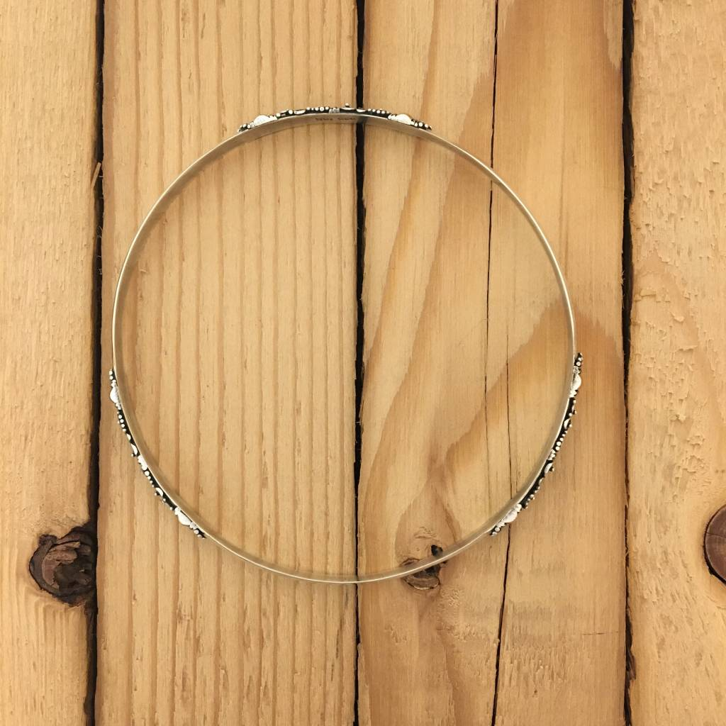 M Style Bangle with Silver and Gold detail