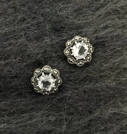 Larus Marcasite Earring with Clear Topaz