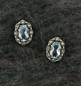 Larus Marcasite Earring with Blue Topaz