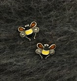 Larus Marcasite Bee Earrings