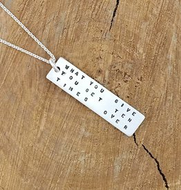 Andrea Waines Andrea Waines bookmark 'What You Give You Get Ten Times Over' pendant