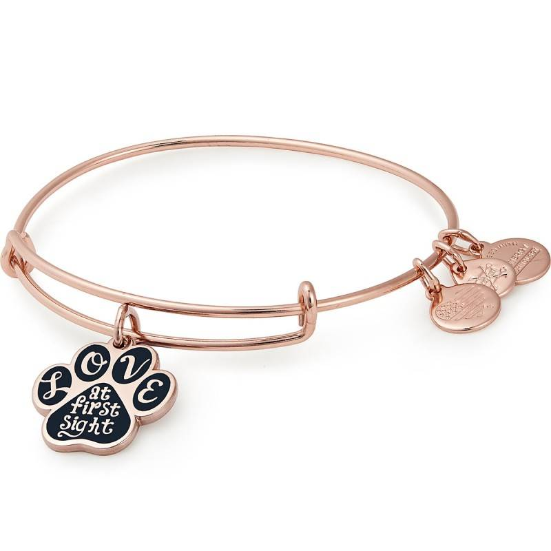 Alex and Ani Words are Powerful, Love at First Sight EWB - Rose Gold