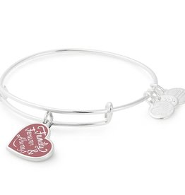 Alex and Ani Words are Powerful, Family Forever & Always EWB -Shiny Silver