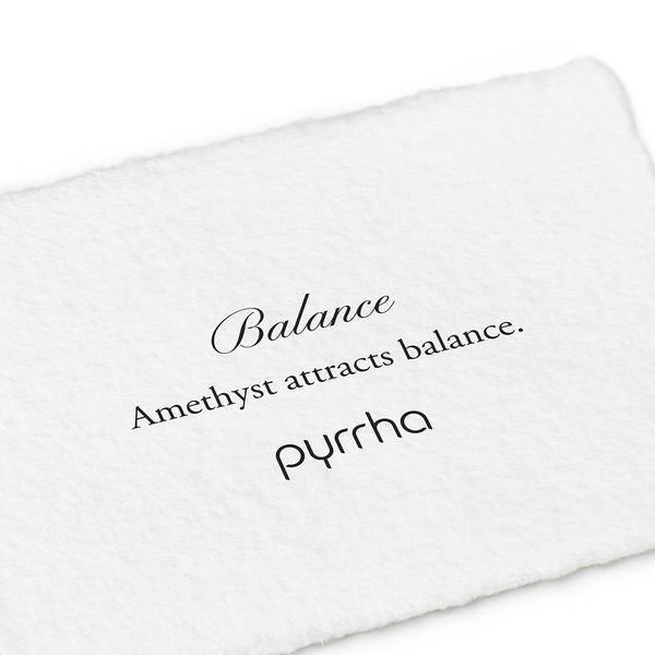 """Pyrrha Pyrrha- Amethyst Wrapped Attraction Charm: """"Balance"""""""