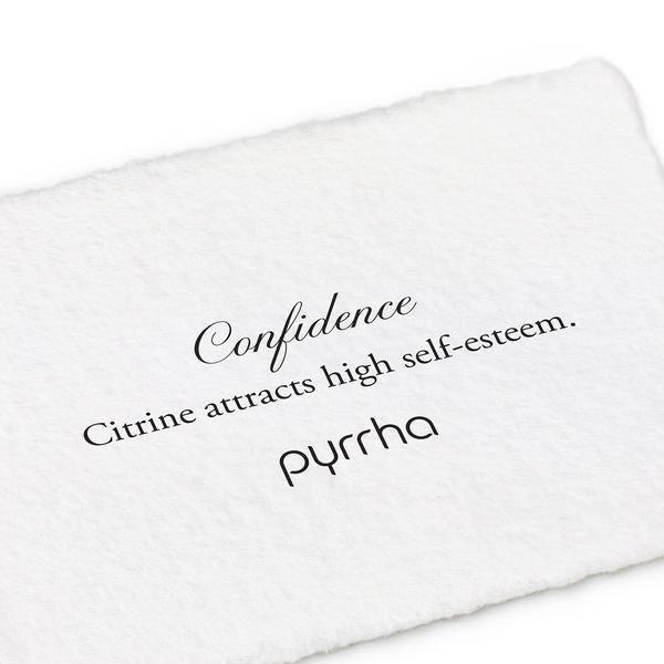 "Pyrrha Pyrrha- Citrine Wrapped Attraction Charm: ""Confidence"""