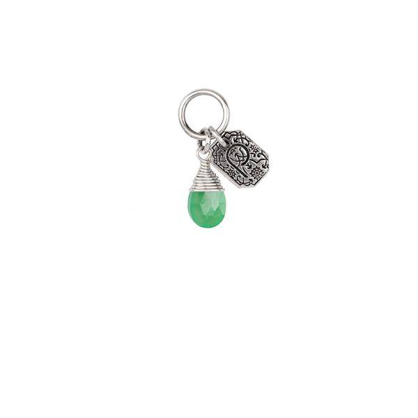 "Pyrrha Pyrrha- Chrysoprase Wrapped Signature Attraction Charm: ""Healing"""