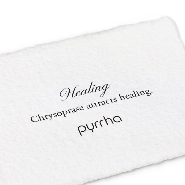 "Pyrrha Pyrrha- Chrysoprase Wrapped Signature Attraction Charm: ""Healing"""