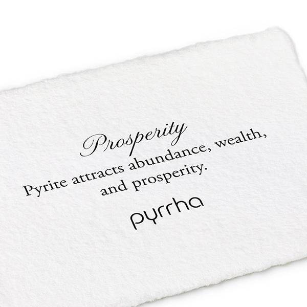 "Pyrrha Pyrrha- Pyrite Wrapped Signature Attraction Charm: ""Prosperity"""