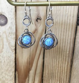 Shablool Sterling Silver Opal Earring
